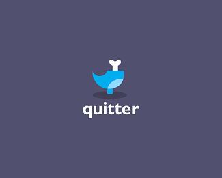 quitter-twitter-logo-design